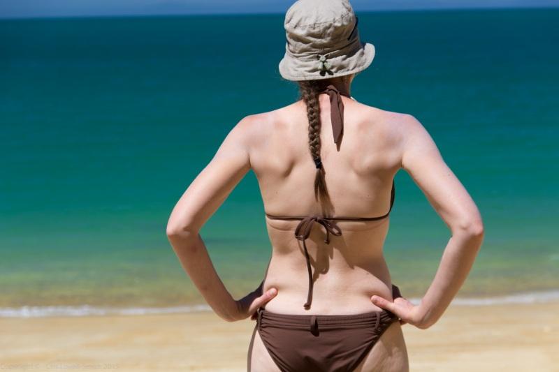 Beach babe (Seakayaking Abel Tasman Dec 2014)