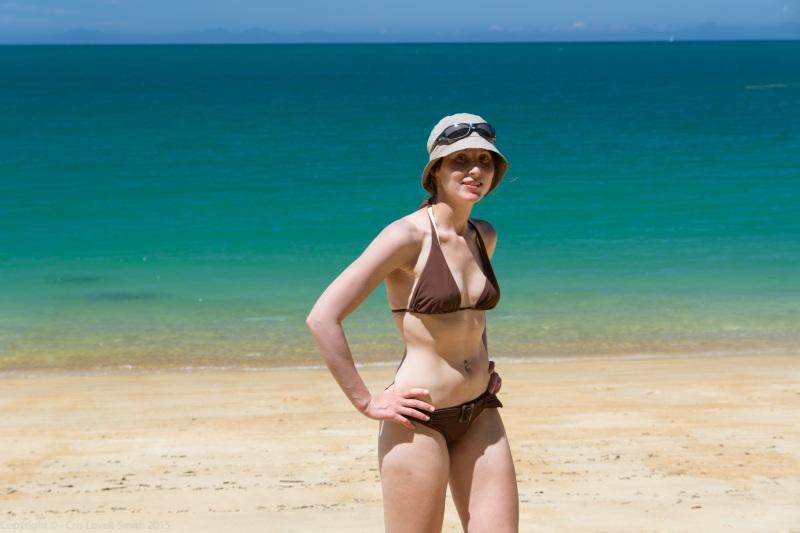 Beach babe 2 (Seakayaking Abel Tasman Dec 2014)