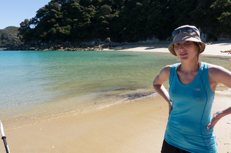 Leonie at the beach (Seakayaking Abel Tasman Dec 2014)