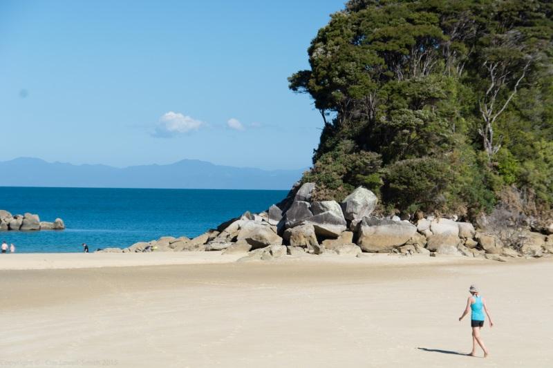 Leonie at Mosquito Bay 3 (Seakayaking Abel Tasman Dec 2014)