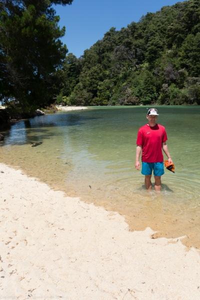Paddling at Apple Tree Bay (Seakayaking Abel Tasman Dec 2014)