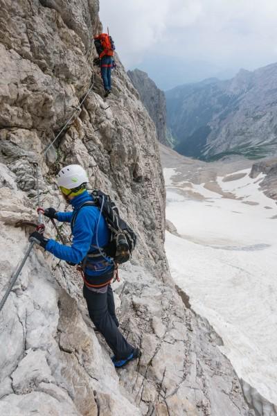 Johannes on the second klettersteig (Zugspitze July 2018)