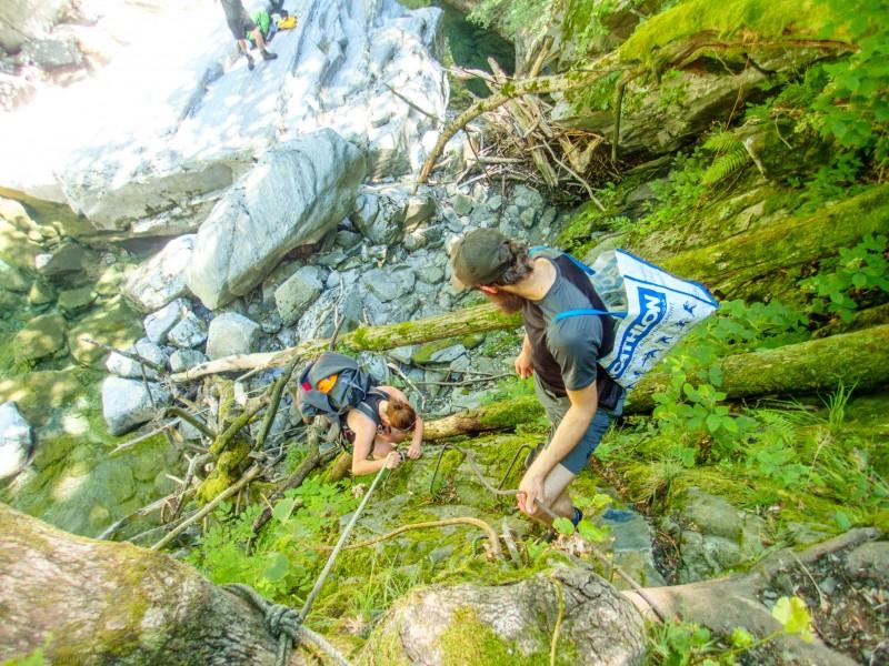 Downclimbing (Canyoning Italy 2019)