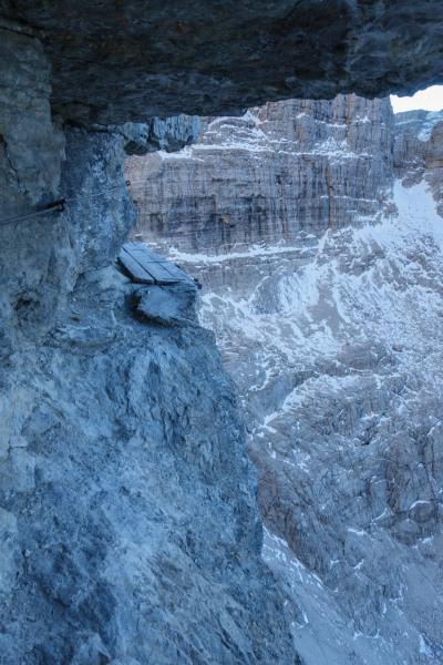 A little platform (Brenta Dolomites)