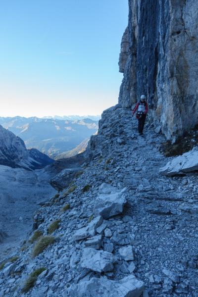 Leonie walking back down (Brenta Dolomites)