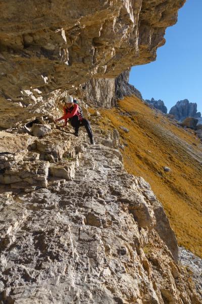 Leonie scrambling (Brenta Dolomites 2016)
