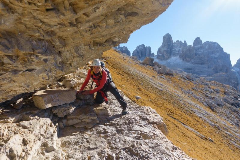 Leonie scrambling 3 (Brenta Dolomites 2016)