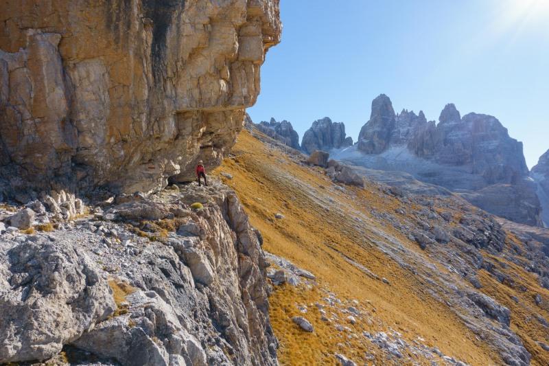 Leonie in the distance (Brenta Dolomites 2016)