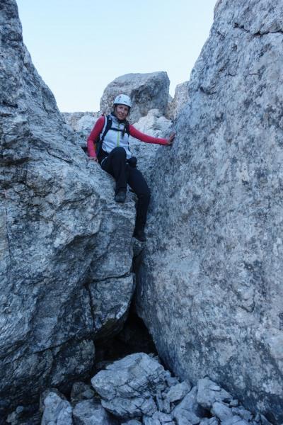 Leonie and rocks (Brenta Dolomites 2016)