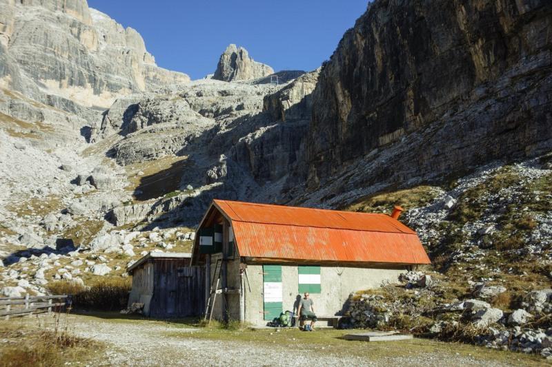 At the biv (Brenta Dolomites 2016)