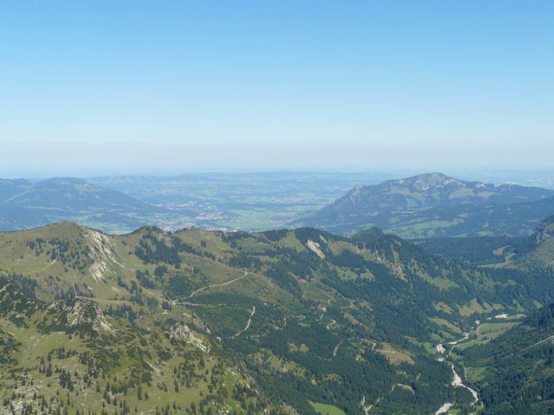 View towards Sonthofen (Nebelhorn Klettersteig, Germany)