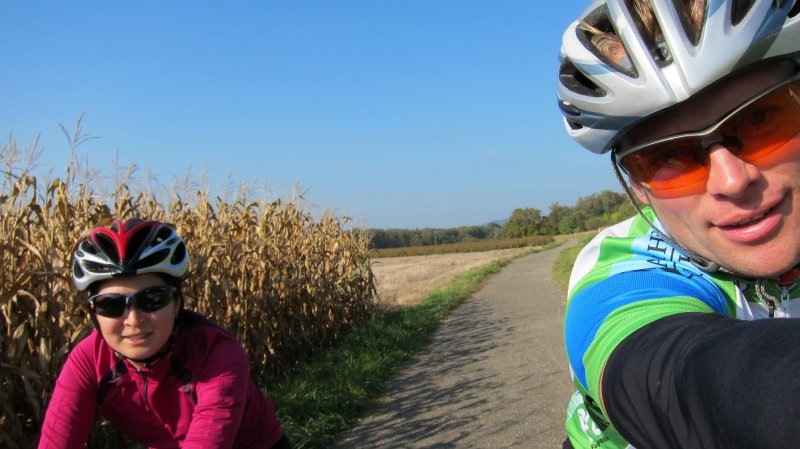 Anna and Cris riding (Freiburg area, Germany)