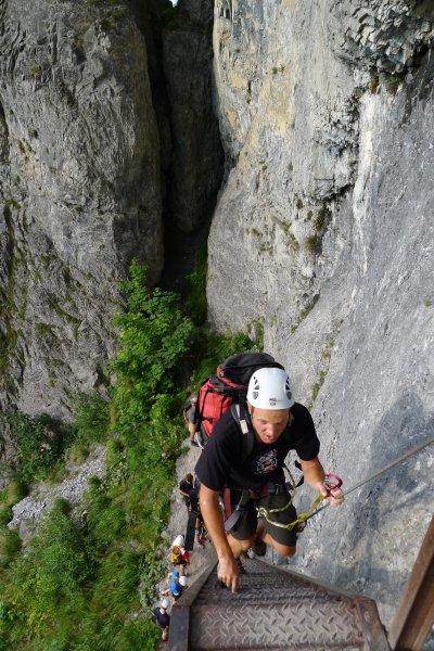 Ascending the klettersteig near flims (SOW 2011, Switzerland)