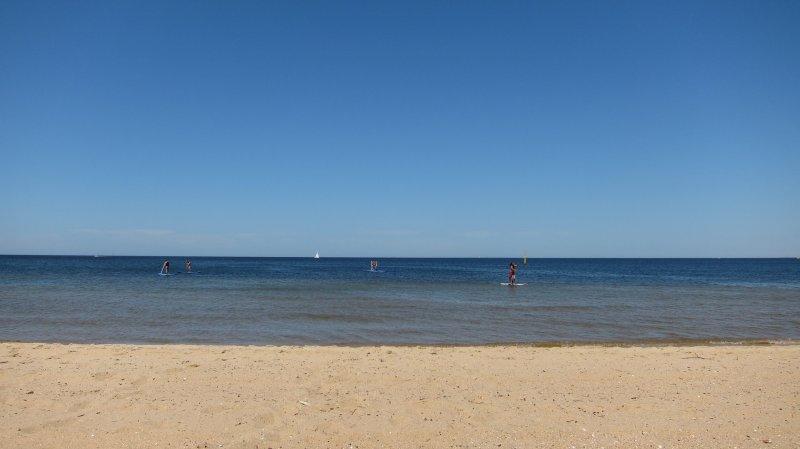 At St Kilda beach (Melbourne)