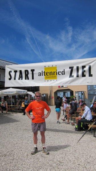 At the finish (Immenstadt Gebirgsmarathon 2011)