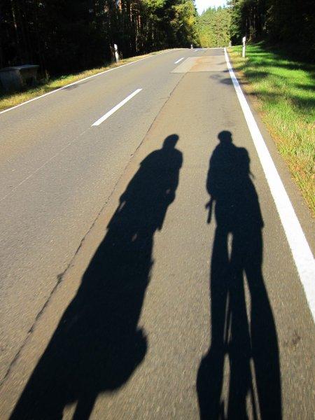 Brendan and Cris heading towards Waldmünchen (Germany)