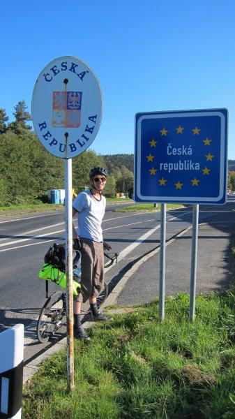 Brendan at the Czech border (Germany)