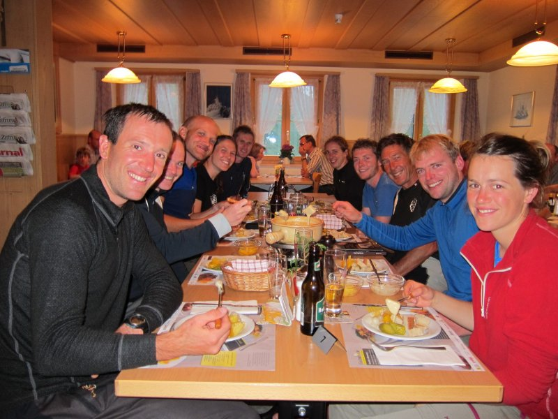 Cheese fondue for dinner (Furkapass, Switzerland)