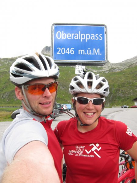 Cris and Emily at Oberalppass (Switzerland)
