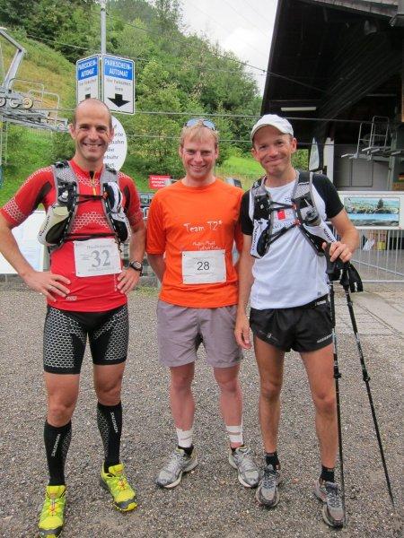 Cris the punter with real runners (Immenstadt Gebirgsmarathon 2011)