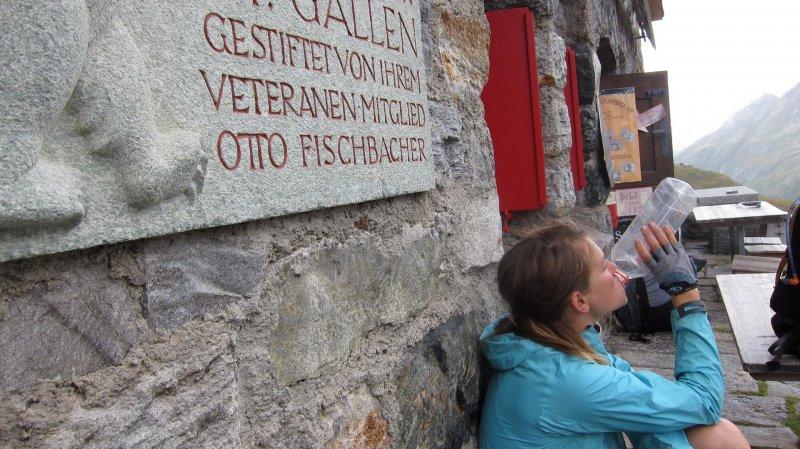 Drinking (Grialetschhütte, Switzerland)