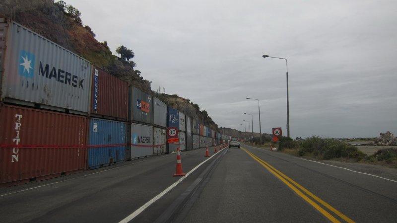 Driving along beside Sumner beach (Christchurch)