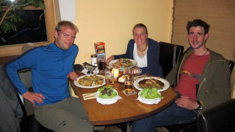Eating at the Schiff with Gitti and Sigi (Blaichach, Allgaeu)