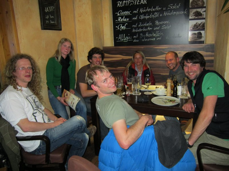 Eating with friends at Relax 2 (Sonthofen, Germany)