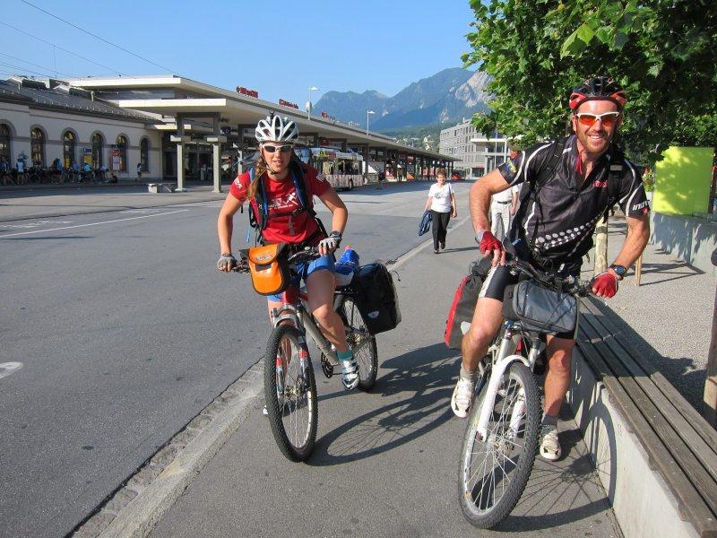 Emily and Chris leave Chur (Chur, Switzerland)