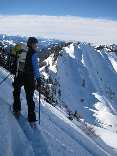 Frauke on slope (Ski touring Allgaeu)