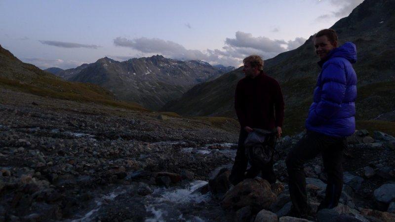 Getting water (Scaletta Pass, Switzerland)