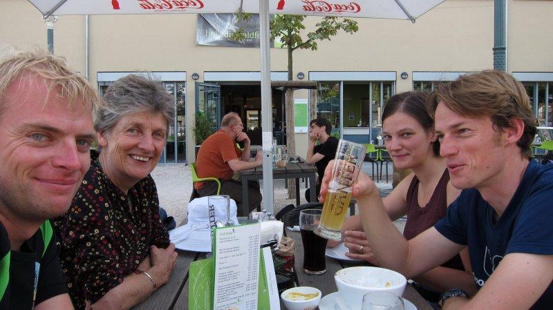 Having beer in Freiburg (Freiburg, Germany)