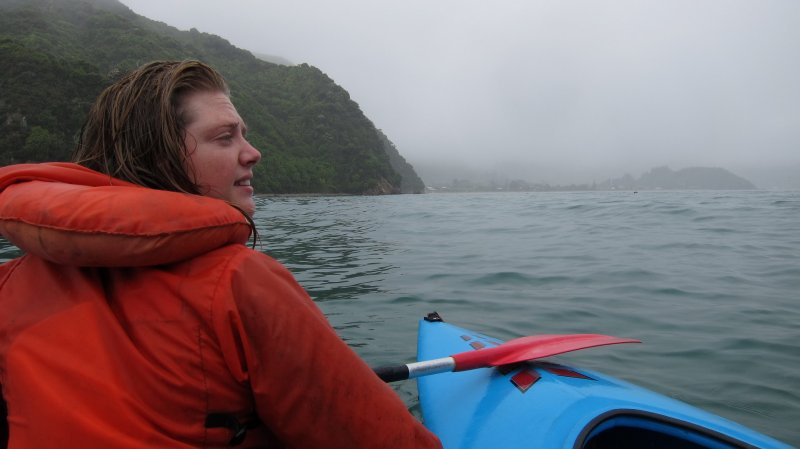 Holly in kayak (Golden Bay)