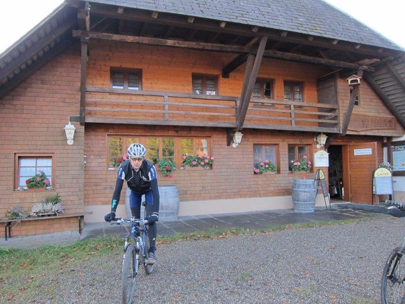 Jakob at the Rappenecker Hütte (Freiburg)