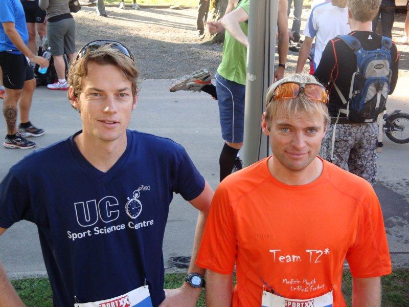 Julian and Cris before the marathon (Jungfrau Marathon, Switzerland)