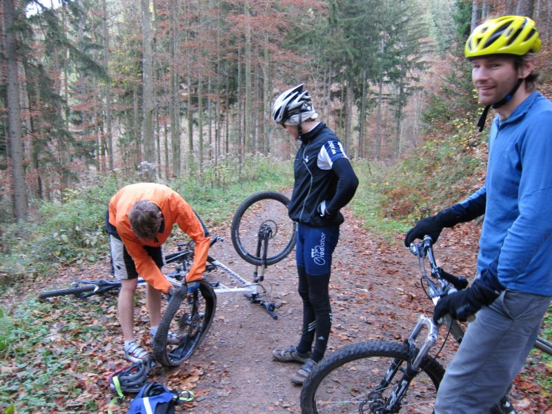 Julian with a flat (Black Forest, Freiburg)