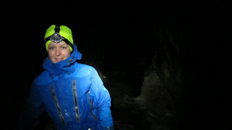 Katie inside (Cave Stream)