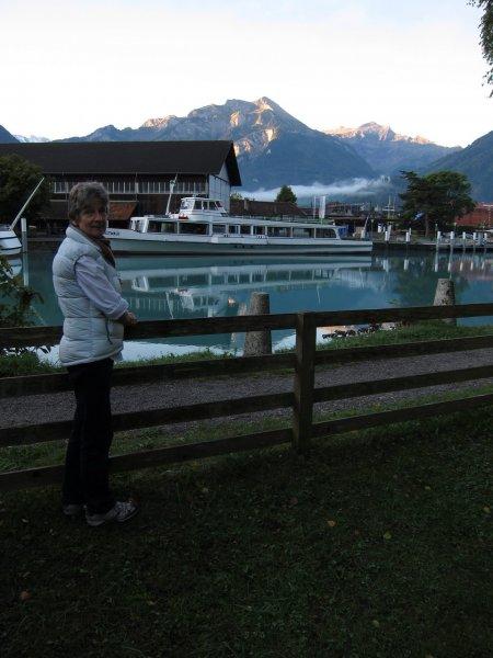 Mum pre-race (Jungfrau Marathon 2011, Switzerland)