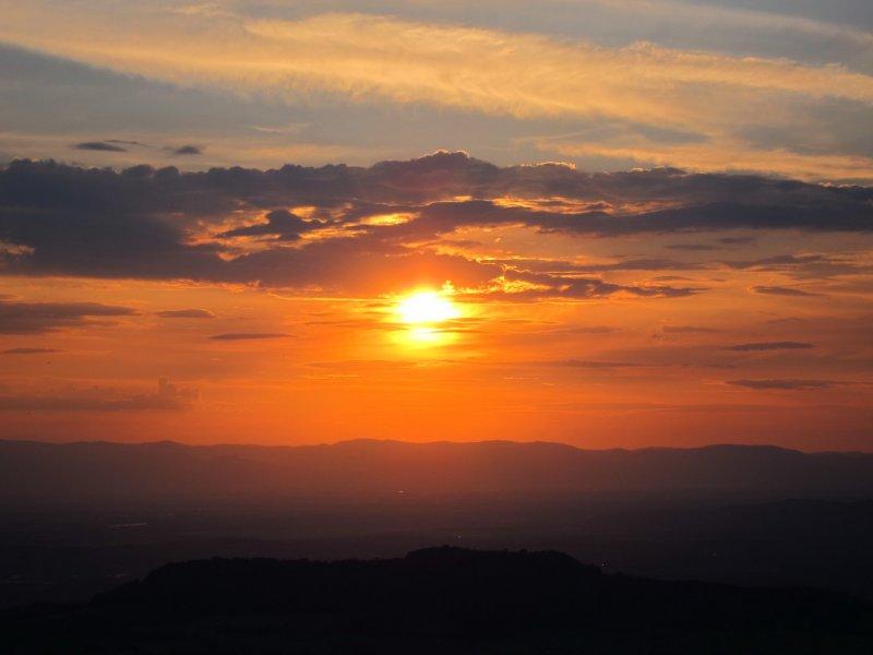 Nice sunset (Climbing Shauinsland, Freiburg, Germany)