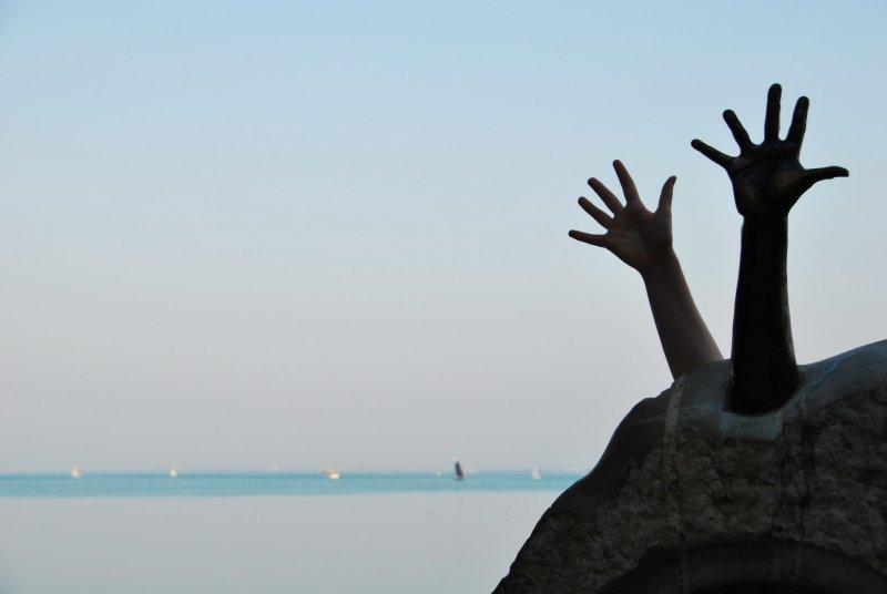 Two hands (Lake Belaton, Hungary)