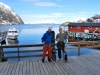 Aly and Cris on the deck (Lyngen Alps, Norway)