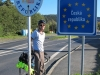 Brendan at the Czech border (Germany)
