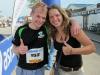 Cris and Katha after the Voralpenmarathon (Kempten, Germany)
