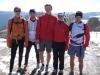 Cris, Julian, Benni, Steffi, Nico on the Shauinsland summit 3 (Freiburg)