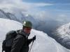 Cris on the summit (Rørnestinden, Norway)
