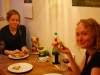Eating pizza with Suvi and Sophia (Freiburg, Germany)