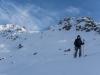 Heading down (Ski touring Jamtalhuette)