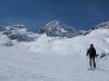 Leonie and mountains (Ski touring Jamtalhuette)