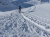 Starting to cross the Jamtalferner (Ski touring Jamtalhuette)