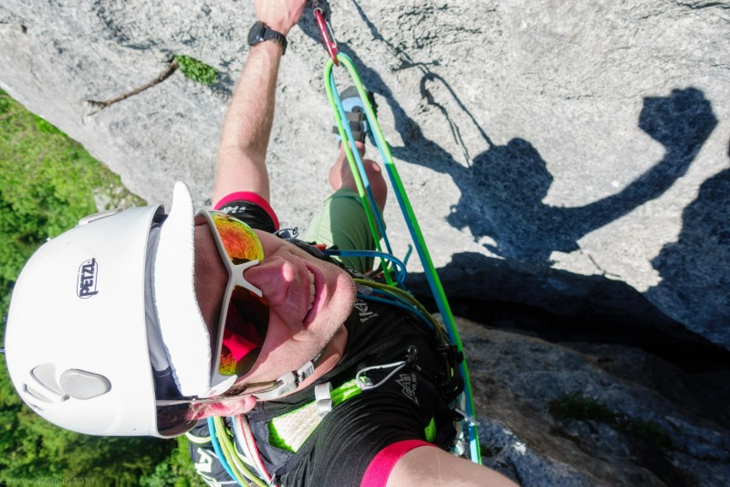 Cris crosses the spalter (Climbing Holiday June 2019)
